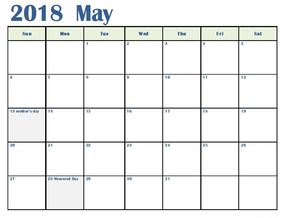 2018 May Calendar Malayalam