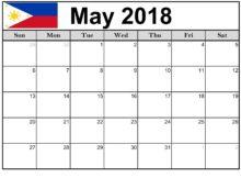 Philippines Calendar 2018 May
