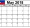 Philippines Calendar 2018 May