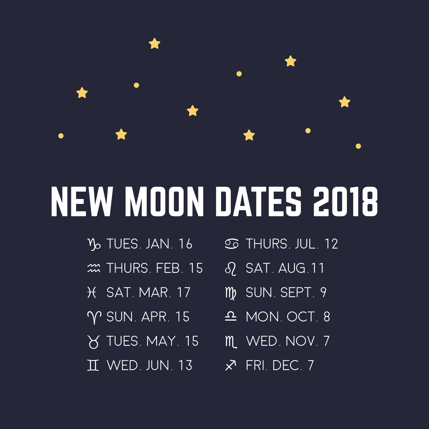 2018 May Full Moon Dates Calendar