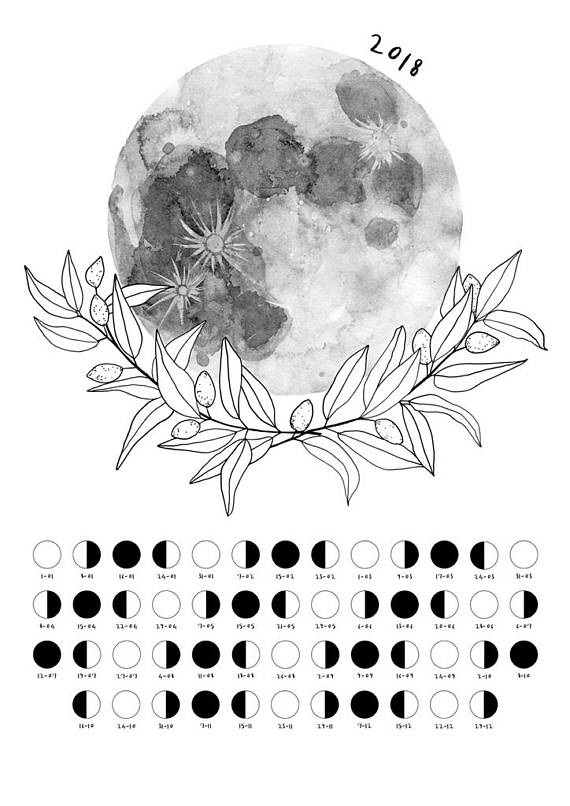 2018 May Moon Phases Lunar Calendar