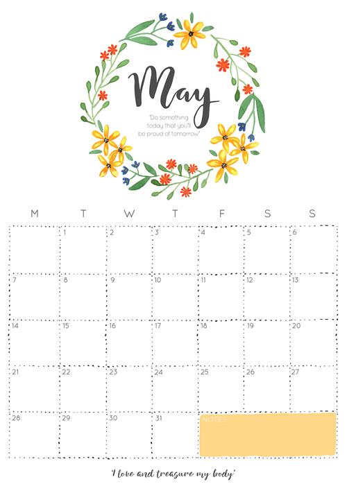 2018 May Printable Calendar PDF