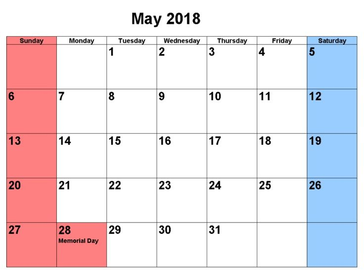 2018 may south africa calendar