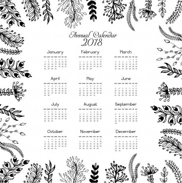 2018 US Holidays Annual Calendar