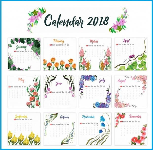 2018 US Holidays Calendar