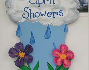 April Showers Bring May Flowers Cake