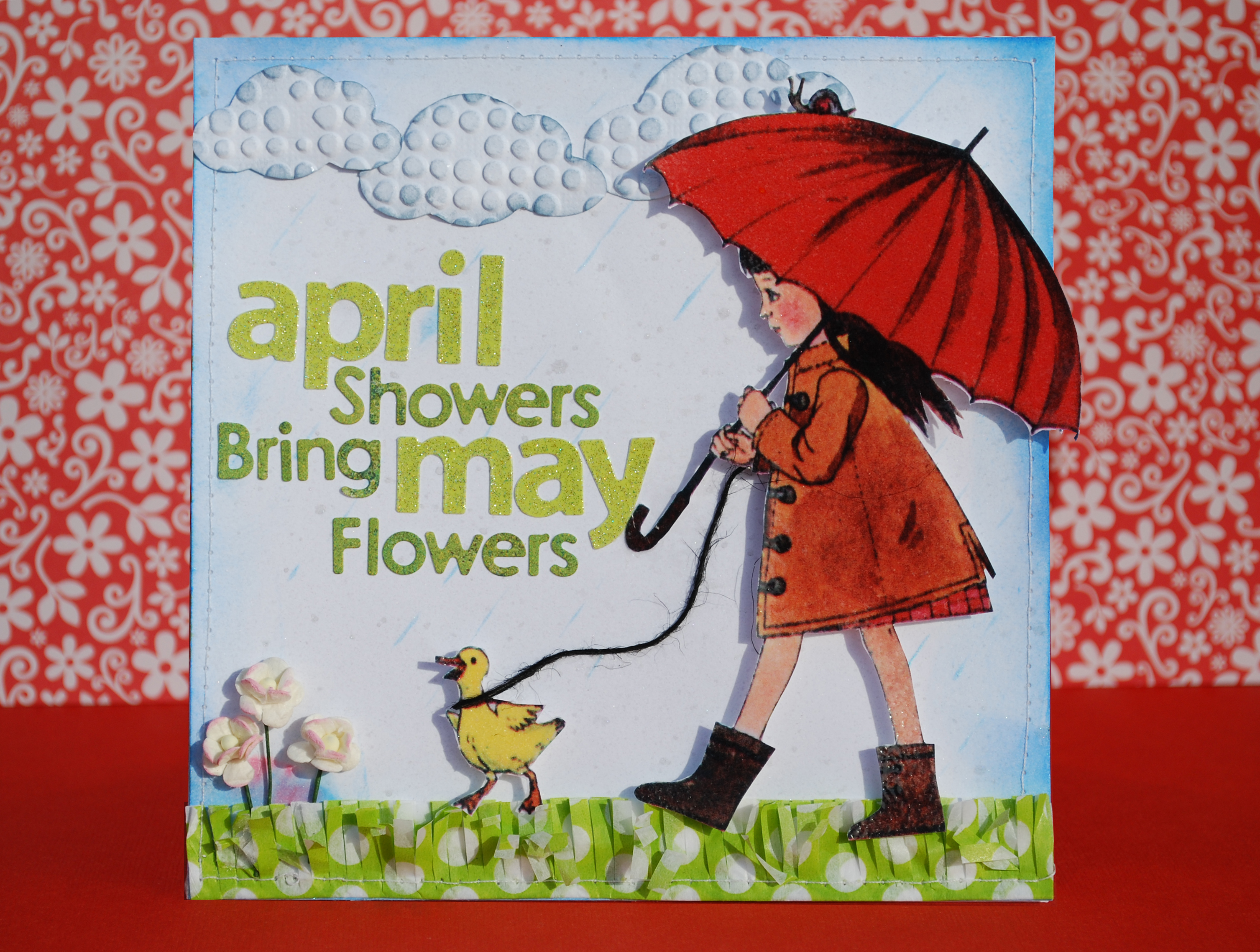 April Showers Bring May Flowers Vintage