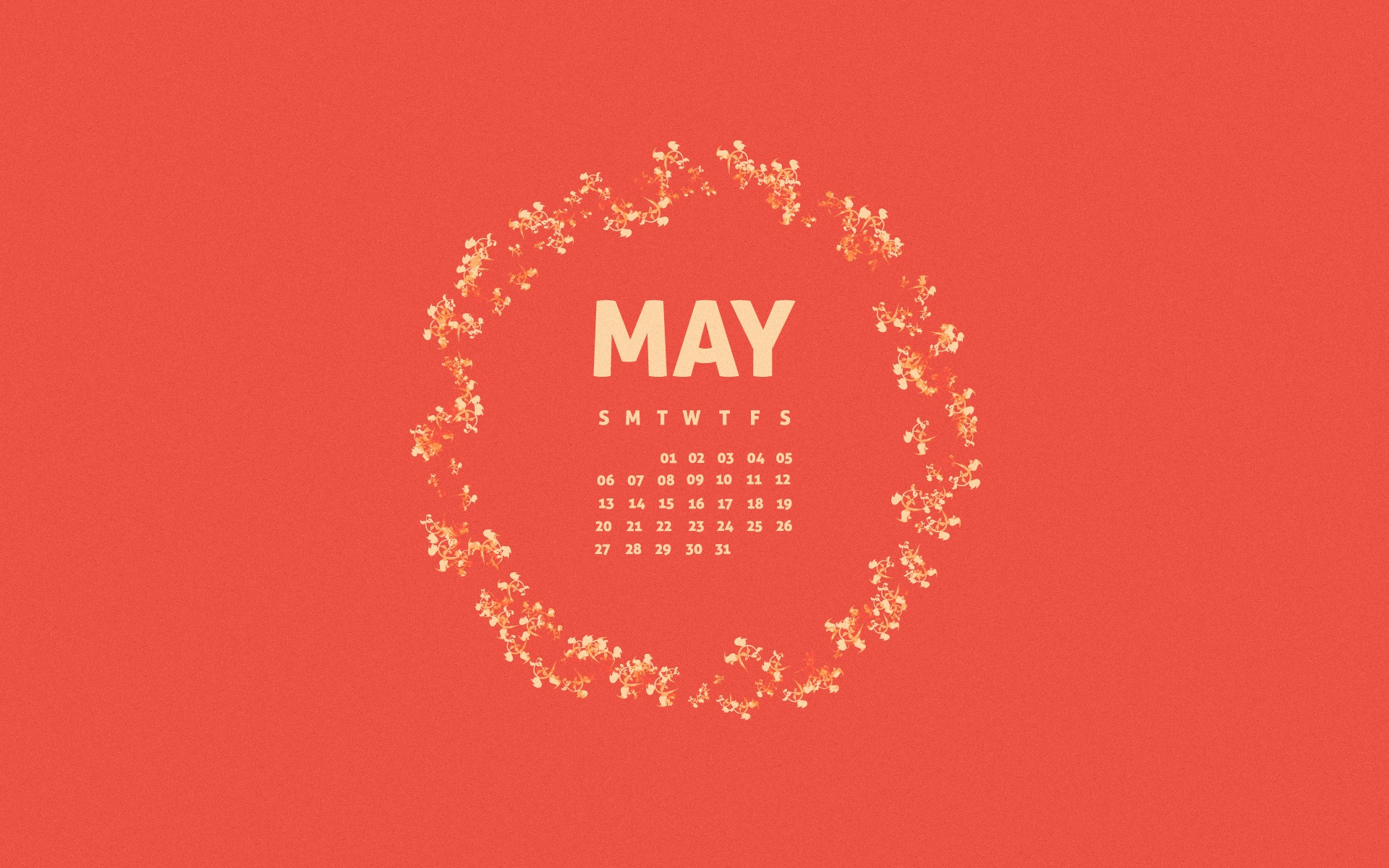 Beautiful May 2018 Desktop Calendar