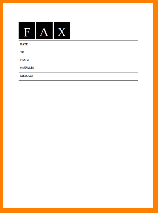 Blank Fax Cover Sheet Printable