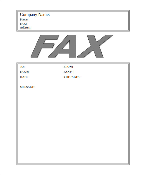 Business Fax Cover Sheet Doc