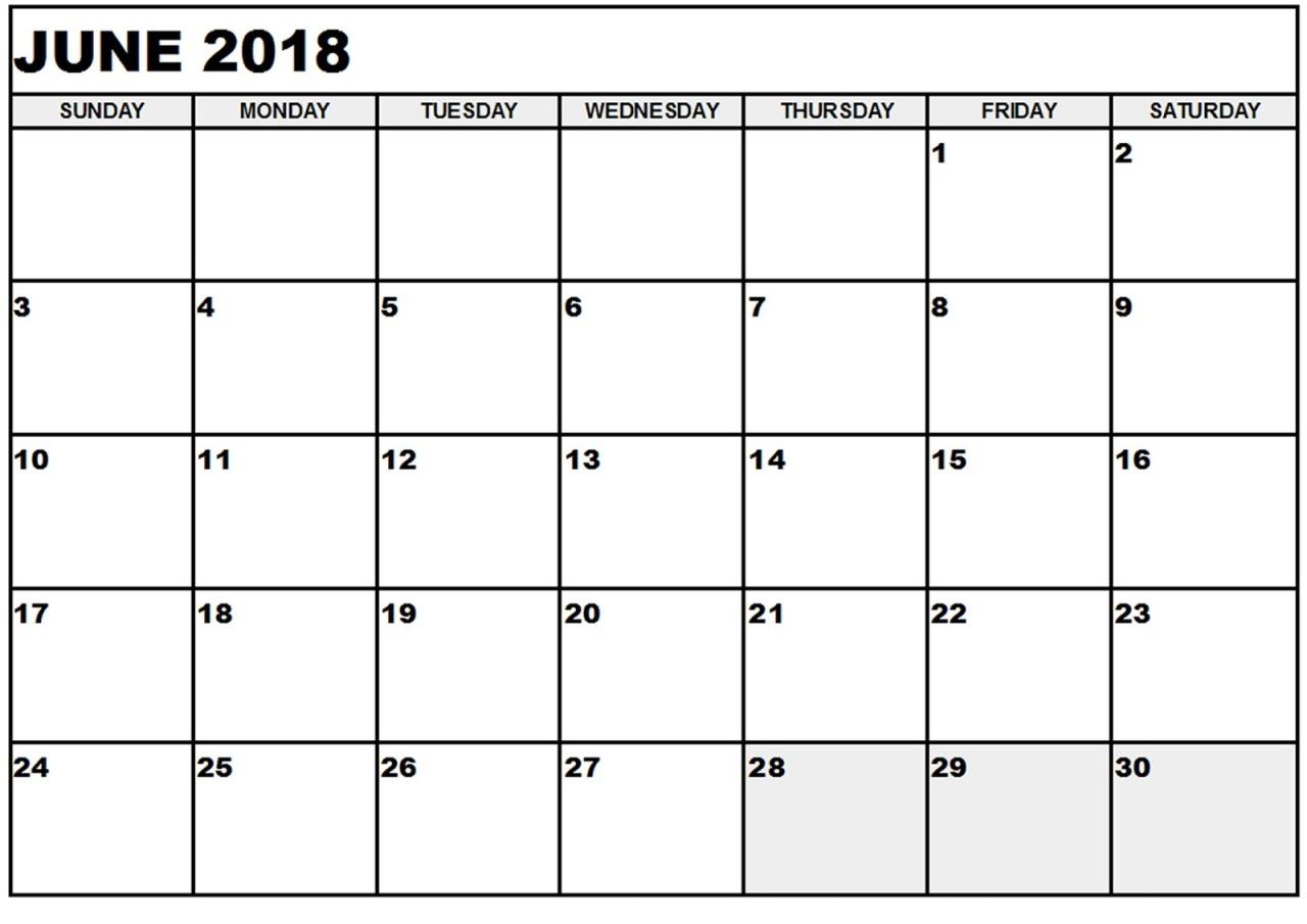 Calendar June 2018 Tumblr