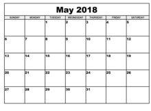 Calendar May 2018 New Zealand