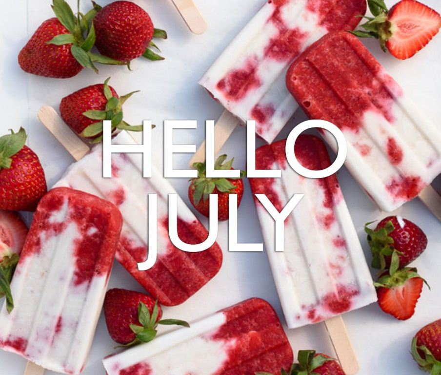 Cool Hello July Wallpaper