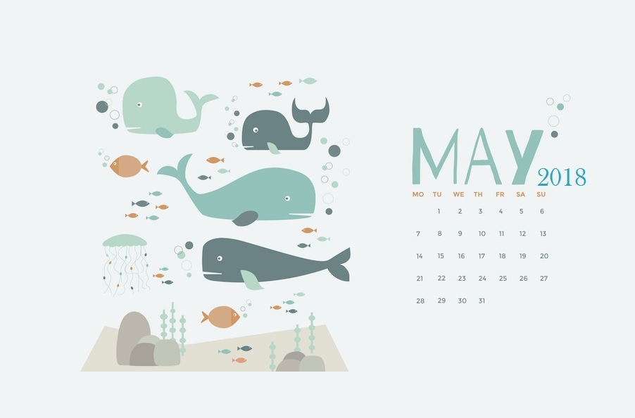 Cute May 2018 Calendar Images