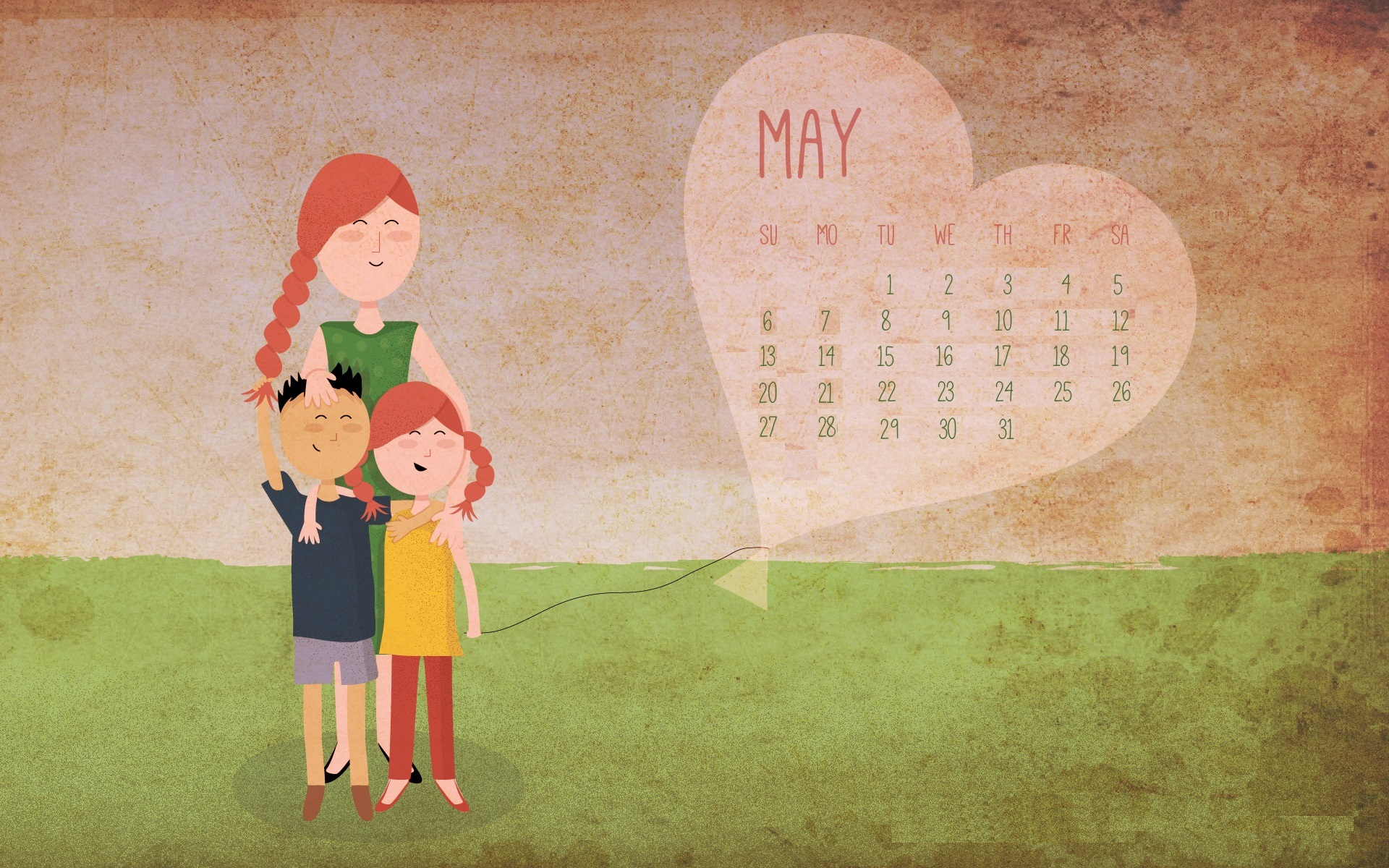 Cute May 2018 Wall Calendar