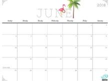 Cute and Crafty June 2018 Calendar