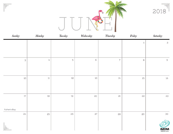 Cute and Crafty June 2018 Calendar
