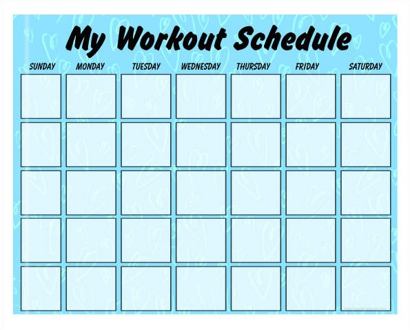 Daily Workout Planner Schedule