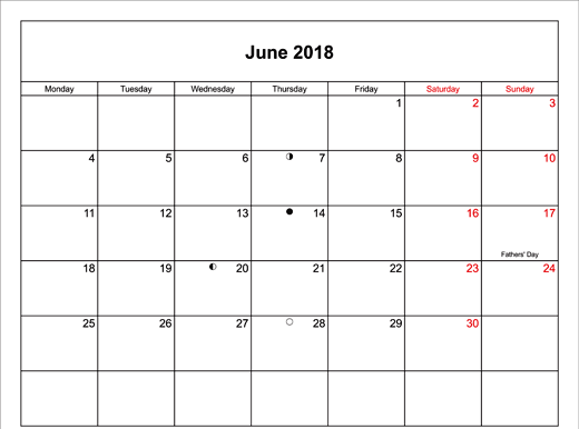 Download June 2018 Calendar With Holidays UK