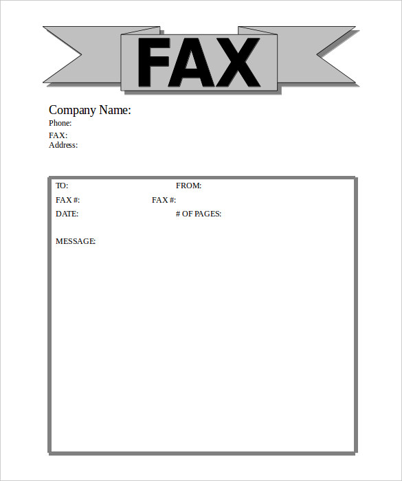 Fax Cover Sheet Doc Free