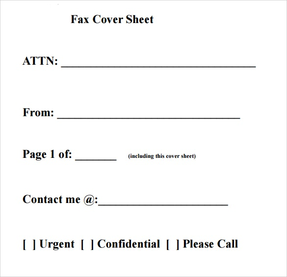 Fax Cover Sheet Example Filled Out