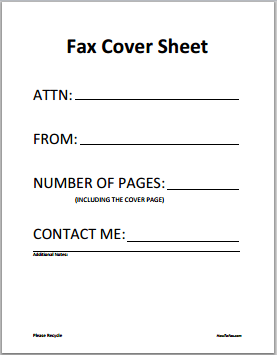 Fax Cover Sheet Example Word