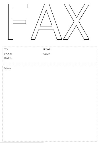 Fax Cover Sheet Fillable