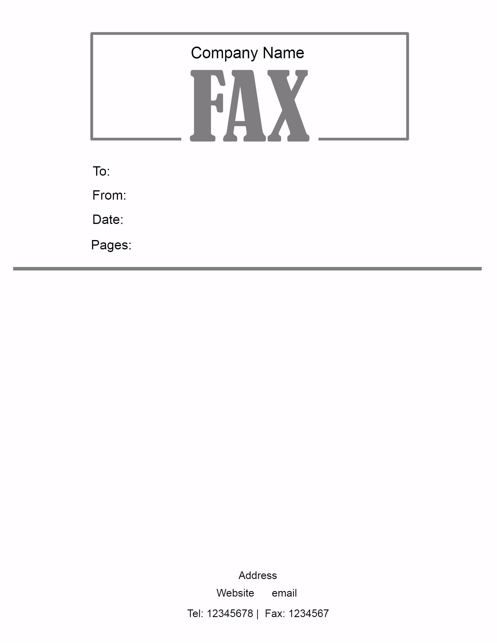 Fax Cover Sheet PDF Printable
