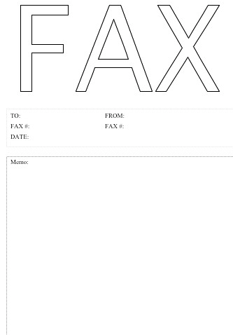 Free Fax Cover Sheet Blank