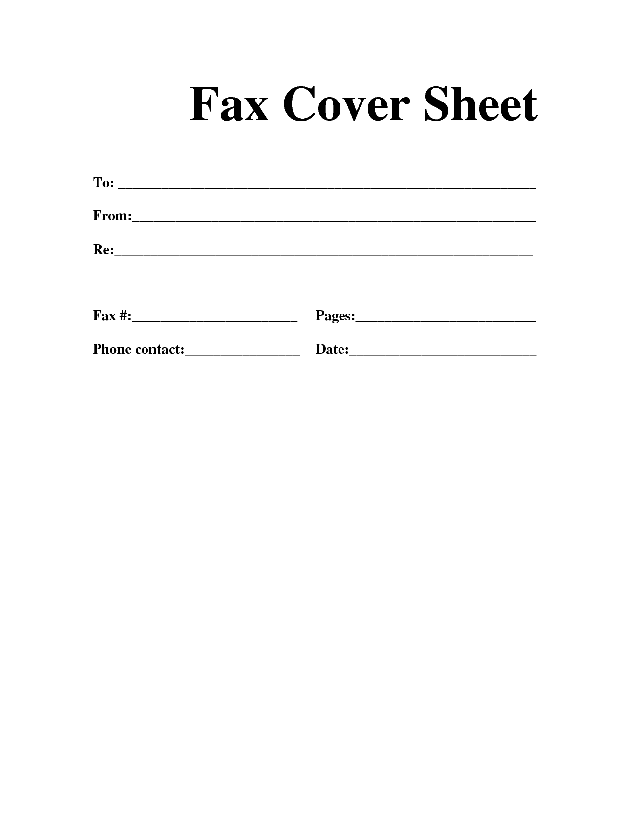 Free Fax Cover Sheet Doc