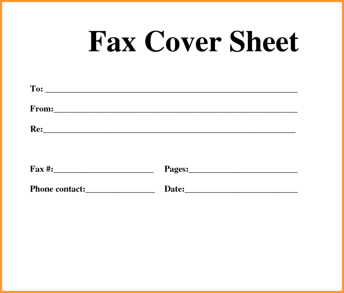 Free Fax Cover Sheet Download
