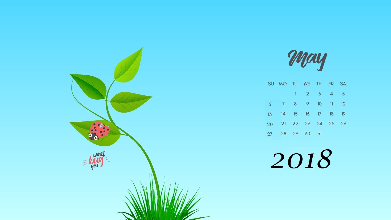 Free May 2018 Desktop Calendar