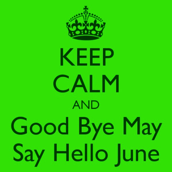 Good Bye May Hello June Whatsapp DP