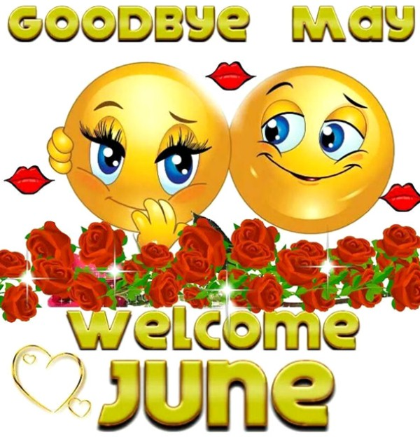 Good Bye May Hello June Wishes