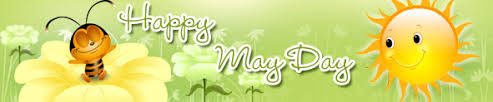 Happy May Day Clipart Banner