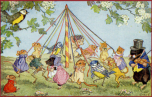 Happy May Day Vintage Images