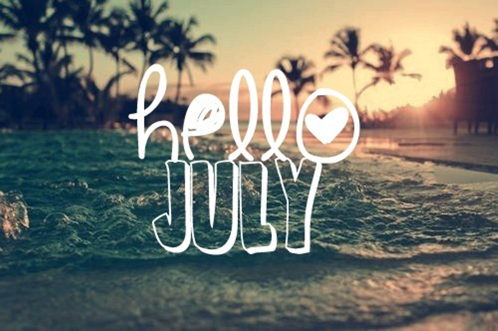Hello July Funny Wallpaper