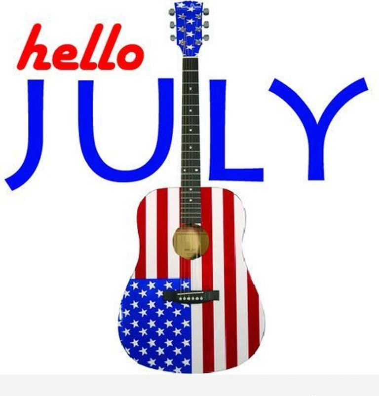 Hello July Wallpaper USA