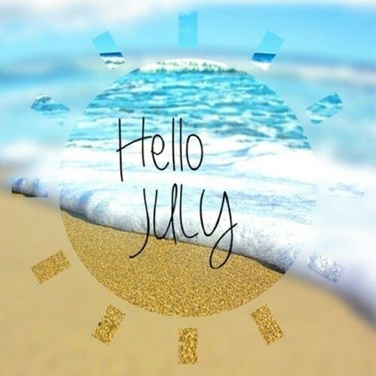 Hello July Wallpaper`