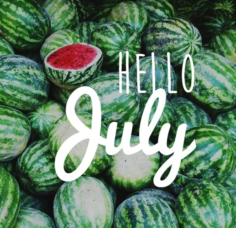 Hello July WhatsApp Wallpaper