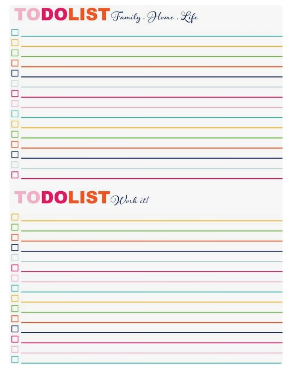 Home Task List Template