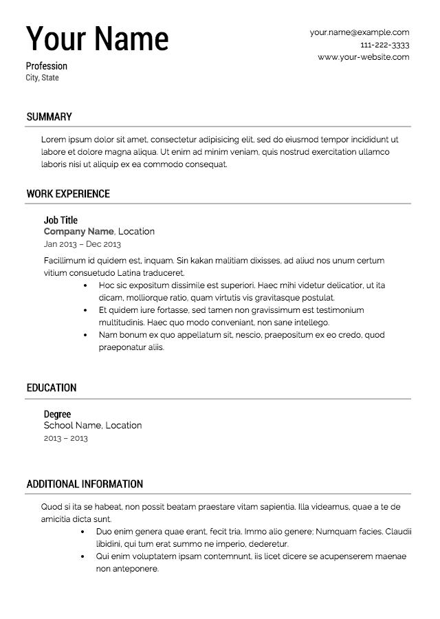 Impresive Resume Templates