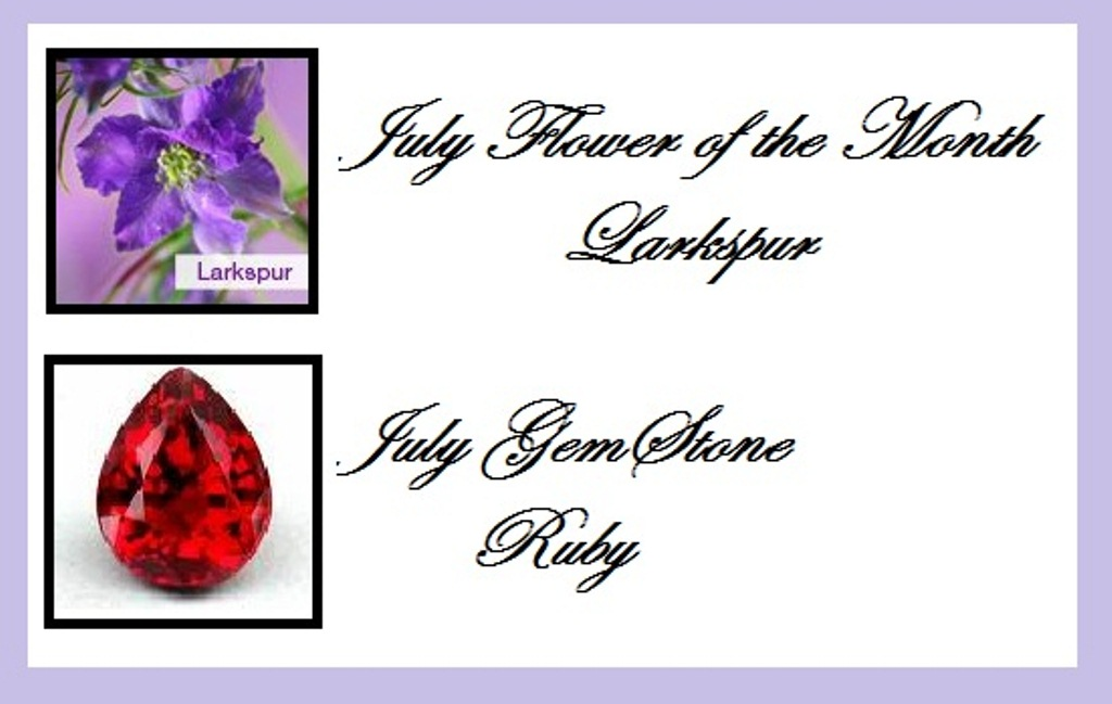 July Birth Flower and Stone