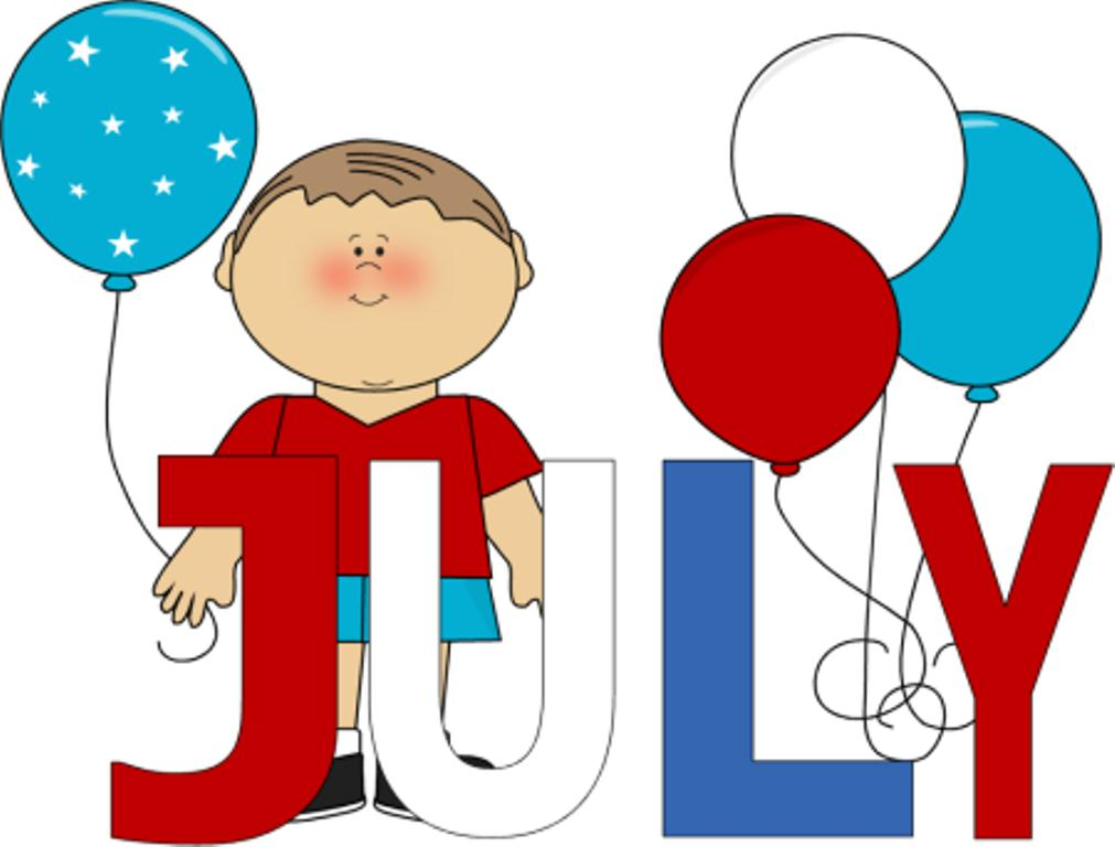 July Cartoon Clip Art