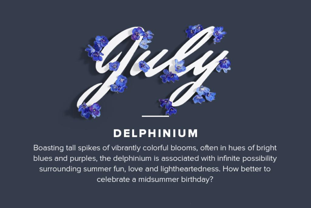July Month Flower Meaning