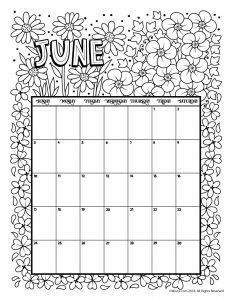 June 2018 Printable Calendar For Kids