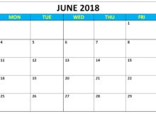 June 2018 Tumblr Calendar PDF