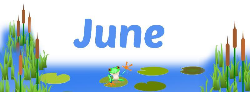 June Banner Clip Art