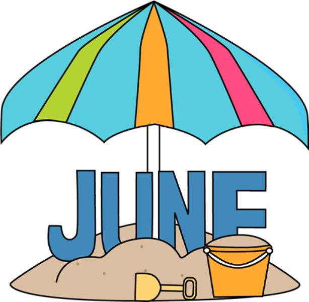 June Beach Clip Art