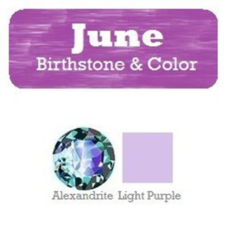 June Birthstone and Color